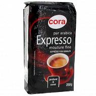 Cora café moulu pur arabica expresso 250g