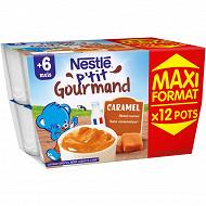 Nestlé p'tit gourmand caramel - 12 x 100g - dès 6 mois