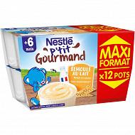 Nestlé p'tit gourmand semoule au lait maxi format 1.2 kg