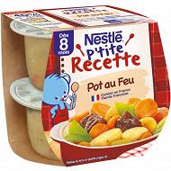 Nestle p'tite recette pot au feu boeuf bol 2x200g dès 8 mois