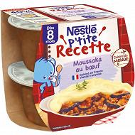 Nestle p'tite recette moussaka (2x200g) des 8 mois