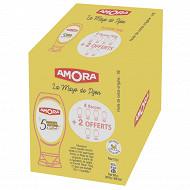 Amora mayonnaise de dijon 5 ingrédients flacon souple lot de 6 flacons 4230g