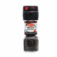 Ducros moulin réglable poivre noir grains 28g