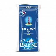 La baleine sel de mer fin iodé saché poly 500g
