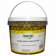 Barral olives vertes dénoyautées seau 2.2kg