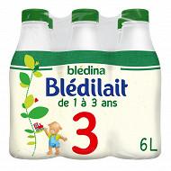 Blédina blédilait lait de croissance 1-3 ans 6x1l