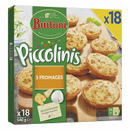 Buitoni piccolinis 3 fromages x18 540g