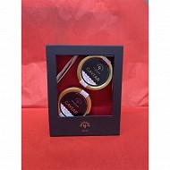 Caviar caviars : 30gr Beluga (Huso Huso) + 30gr Keluga Amour (Acipenser Schrencki Dauricus)