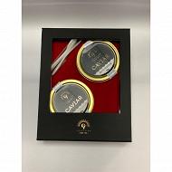 Coffret caviars : 30gr Osciètre (Acipenser Gueldenstaedtii) + 30 gr Baeri Réserve (Acipenser Baerii)