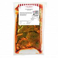 Côtes de porc marinées à l'ail des ours x4 fe 650g charculor
