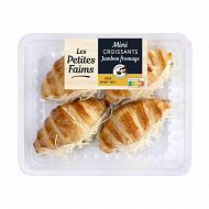 Mini croissants jambon fromage x4  200g bigard