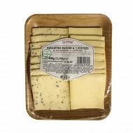 Raclette tranche 2x200g nature / 3 poivres lait pasteurisé de vache