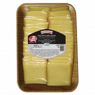 Raclette au lait pasteurisé label rouge 800g