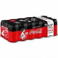 Coca-Cola zéro boite 18x33cl