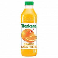 Tropicana orange sans pulpe pet 1l