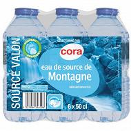 Cora eau de source de montagne Valon 6 x 0.5L