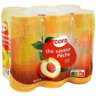 Cora boisson au thé pêche boite 6x33 cl