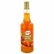 Cora sirop peche/abricot bouteille 70 cl