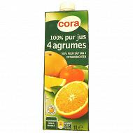 Cora pur jus 4 agrumes brique 1l