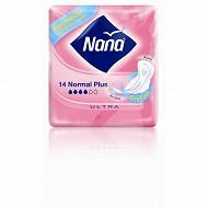 Nana ultra serviettes hygieniques normal plus  x14