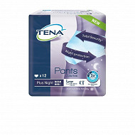 Tena culottes incontinence plus night large X12