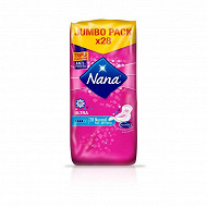 Nana serviettes hygiéniques ultra normal+ déo fresh X28 jumbo pack