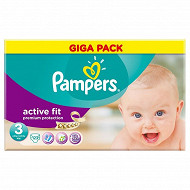 Pampers active fit couches bébé T3 midi x123 gigapack