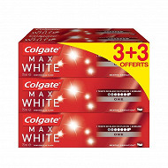 Colgate max white dentifrice one 3+3 offerts 75ml