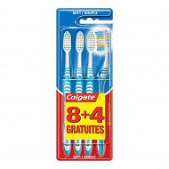 Colgate brosse à dents extra clean soft 8+4 offertes