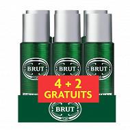 Brut déodorant homme spray original 6x200ml (dont 2 gratuits)