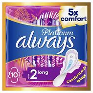 Always platinium serviettes hygieniques long+ x10