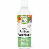 Spray purifiant assainissant 21 huiles essentiel bio 300ml so bio