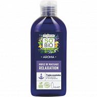 Huile de massage relaxation anti-stress bio 100ml so bio