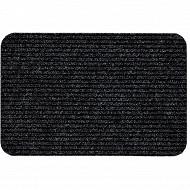 Tapis aiguilleté 33x60cm anthracite/marron