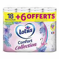 Lotus collection aquatube blanc 18 rouleaux + 6 offerts