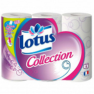 Papier toilette Lotus Collection 6 rouleaux aquatube
