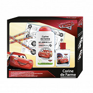 Coffret cars 50ml + gel douche 250ml + 6 crayons