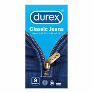 Durex preservatifs classic jeans x9