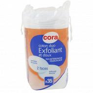 Cora coton maxi-ovales exfoliants x35