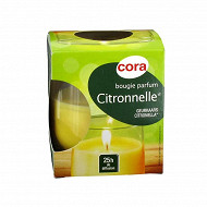 Cora bougie verre citronnelle