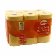 Cora papier toilette 3 plis vanille x12