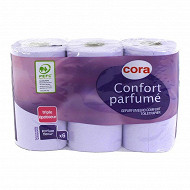 Cora papier toilette 3 plis floral x6 rouleaux