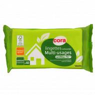 Cora lingettes nettoyantes multi-usages FCS x40