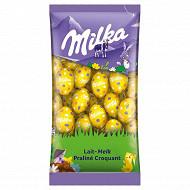 Milka petits oeufs lait praliné 500g