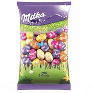 Milka petits oeufs fourrés mix 5 goûts 500g