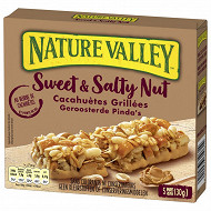 Nature Valley Barre céréales sweet & salty nut cacahuetes 5x30g