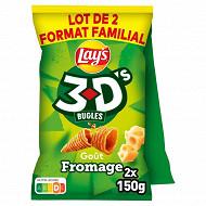 Lays 3d's fromage lot de 2x150g format familial