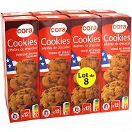 Cora cookies chocolat lot de 8