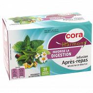 Cora harmony infusion après repas 20 sachets 32g