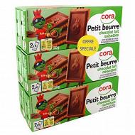 Cora petit beurre tablette lait noisettes 6x150g offre spéciale